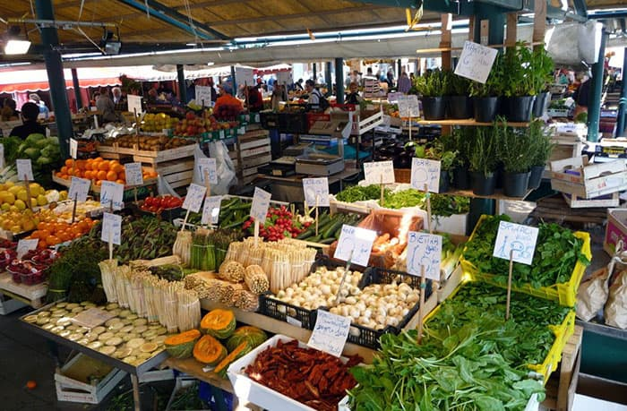 Rialto fruit and vegetable market venice photo