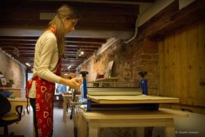 Demonstration of intaglio printing in Venice