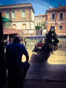 squero venice gondola photo