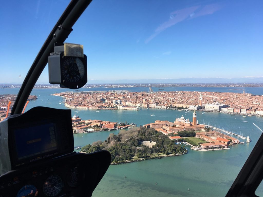 Venice in helicopter - a breath-taking experience !