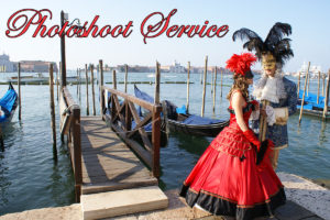 Venezia, photoshoot in costumi storici