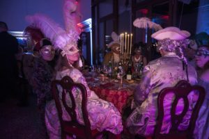 dinner at carnival in love party photo