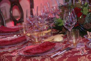 glasses of wine during carnival in love photo