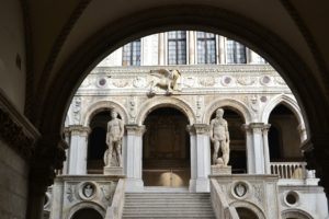 doges palace gold staircase photo