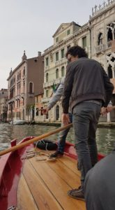Gondola rowing lesson photo