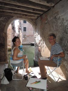 Venice painting workshop photo