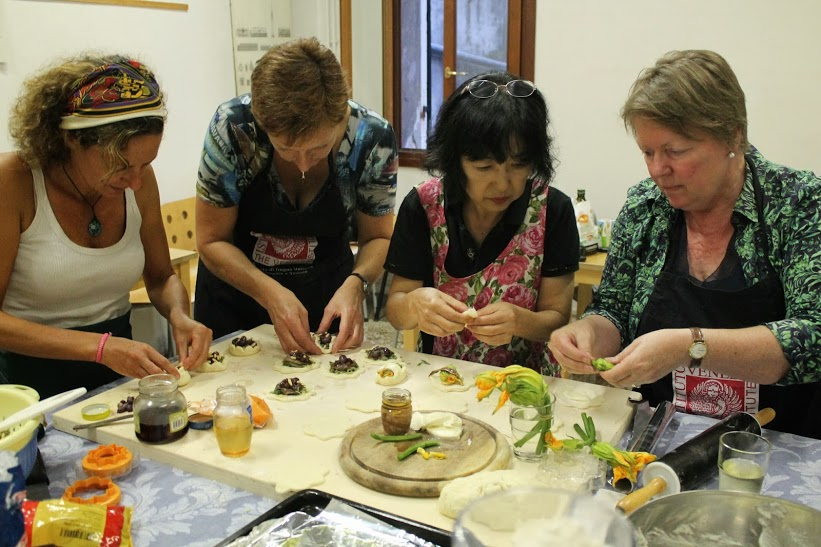 Cooking class in Italian for foreigners