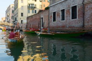Row a gondola in Venice photo