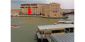 Meeting point per tour su canal grande