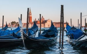 Private gondola in Venice photo