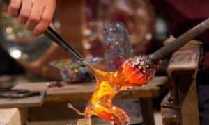 Glass demonstration Murano photo