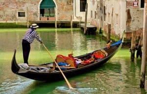 Venice gondola cruise photo