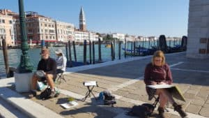Venice painting outdoors photo