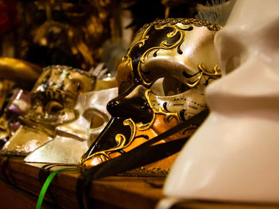 venice carnival masks photo